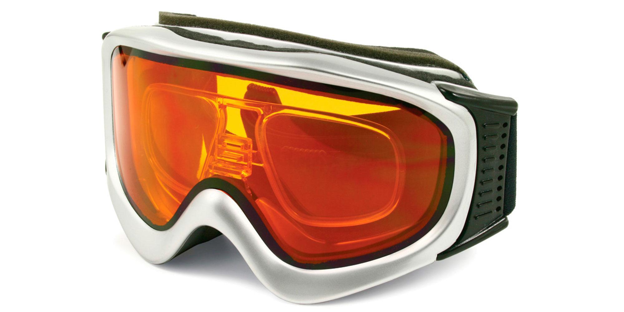 Silver / Amber Lens SRX06 Goggles, Sports Eyewear