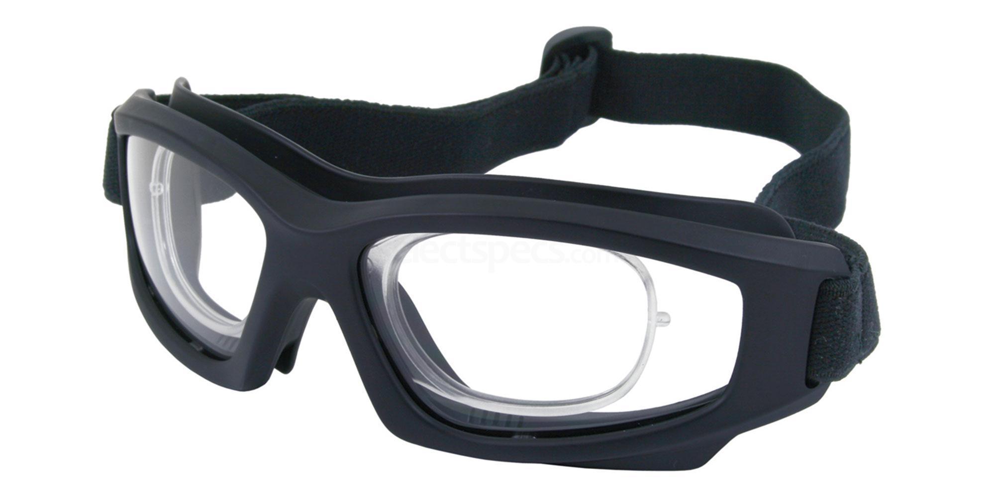 Black SRX10 Goggles, Sports Eyewear