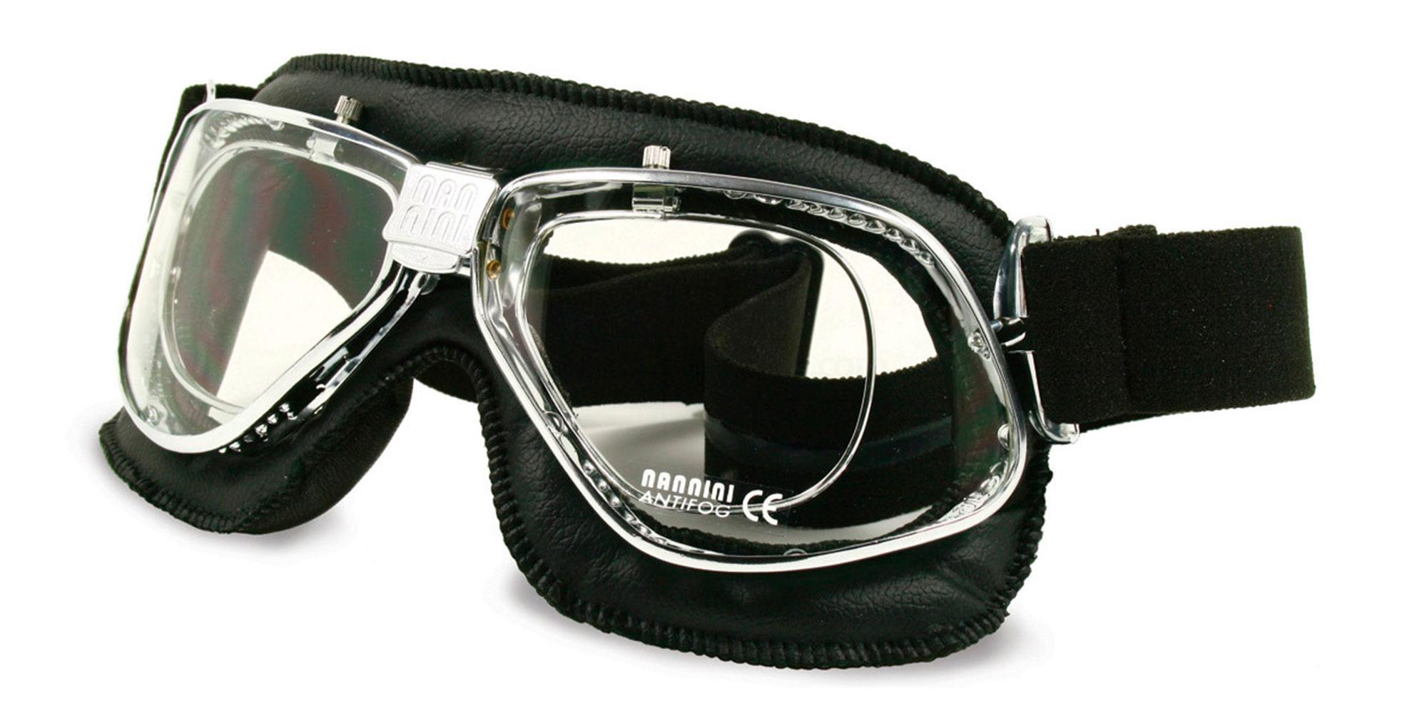 Black/Chrome Cruiser - with prescription insert Goggles, Sports Eyewear