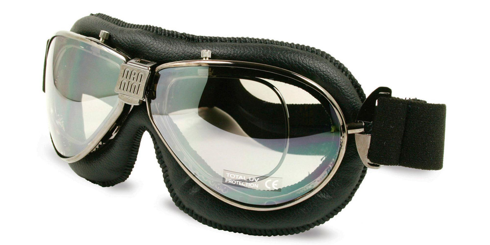 Black/Chrome TT - with prescription insert Goggles, Sports Eyewear