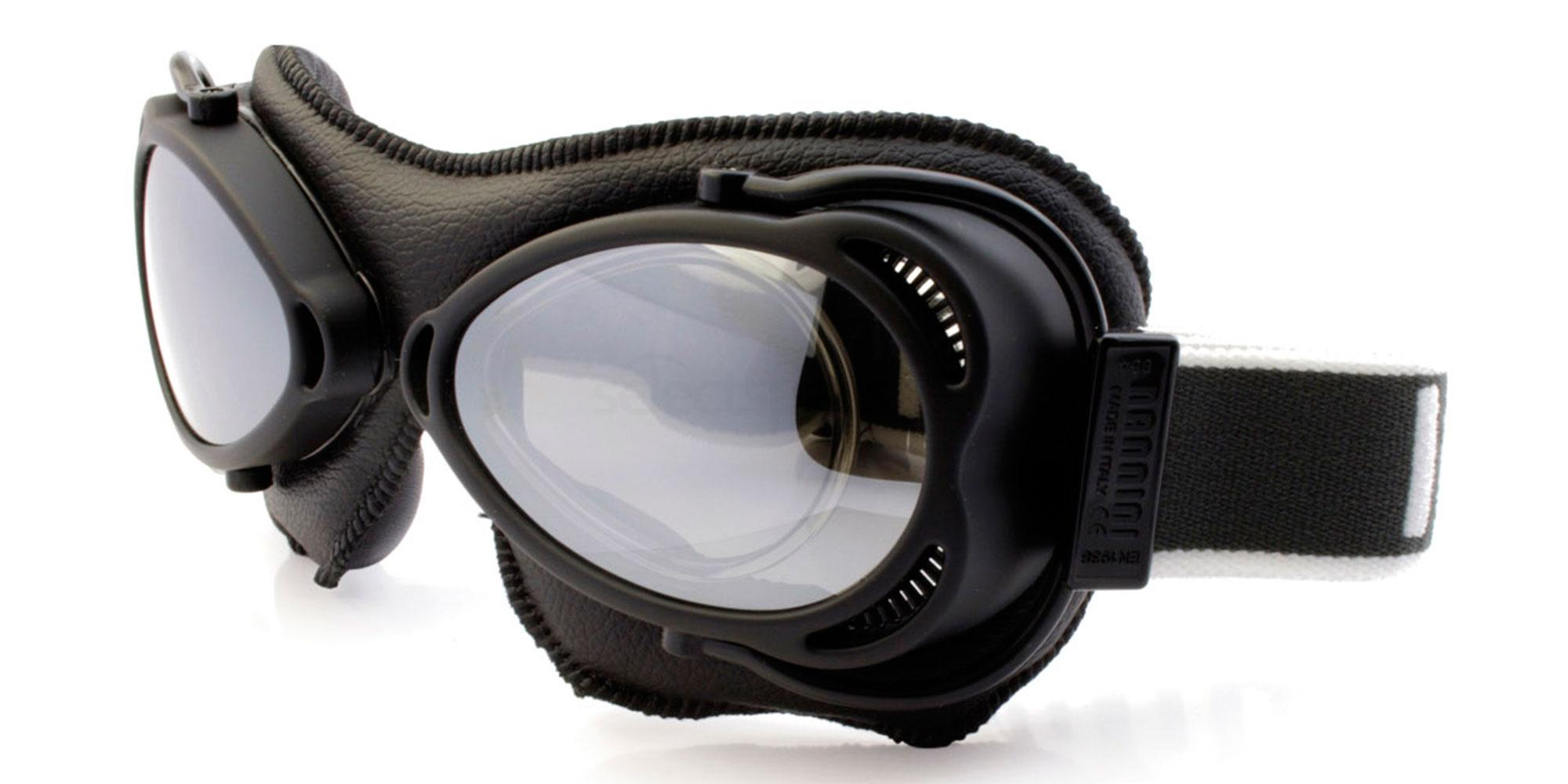 Black Snowfighter - with prescription insert Goggles, Sports Eyewear