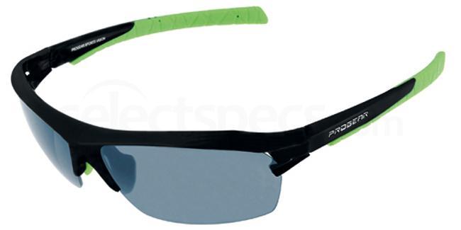 Matt Black & Grey Lens Progear Racer Sunglasses, Sports Eyewear