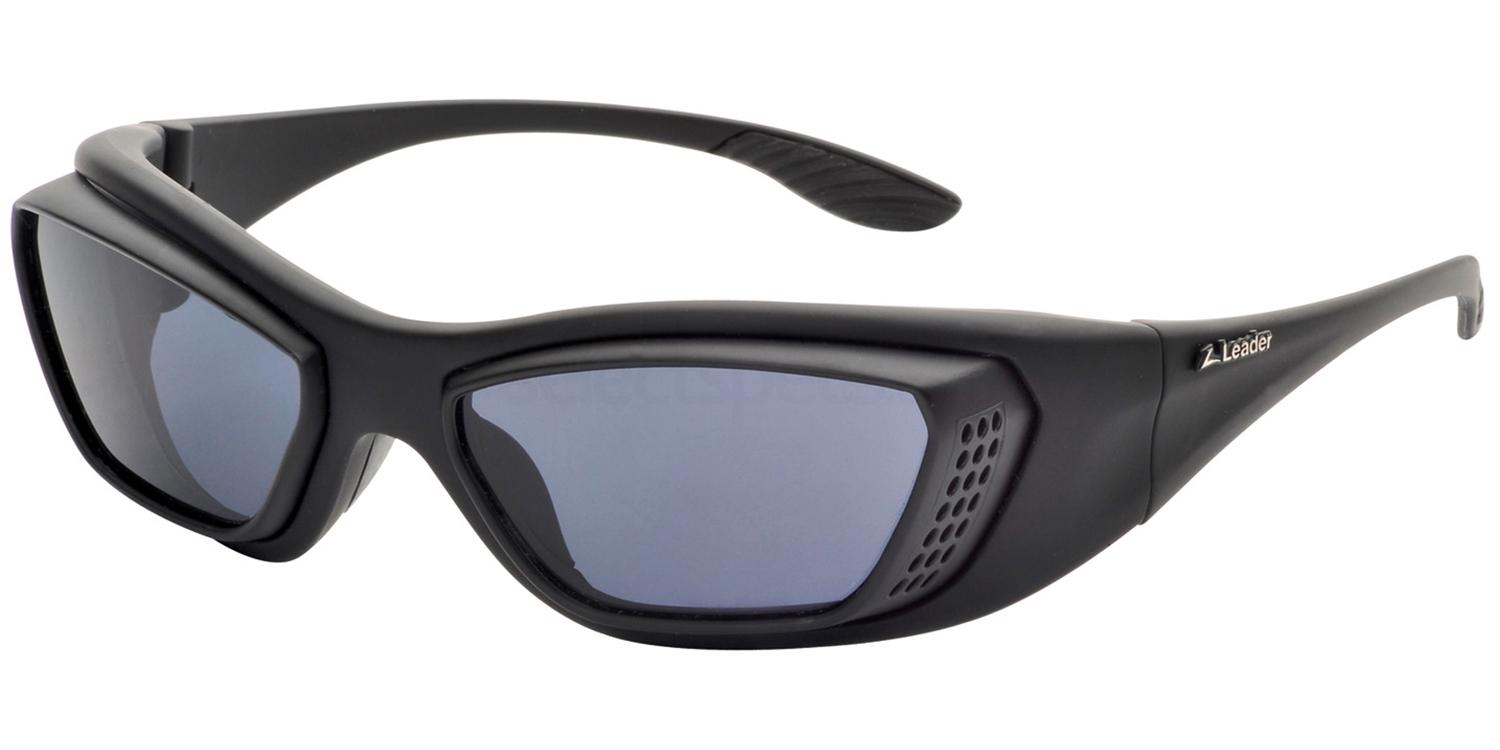 Black/Grey tinted lenses Leader Atomik Sunglasses, Sports Eyewear
