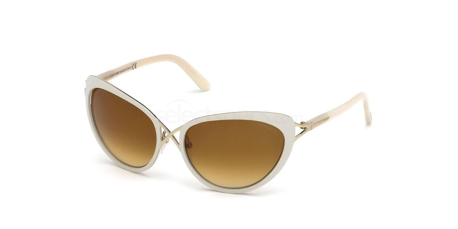 Tom Ford white sunglasses cat-eye