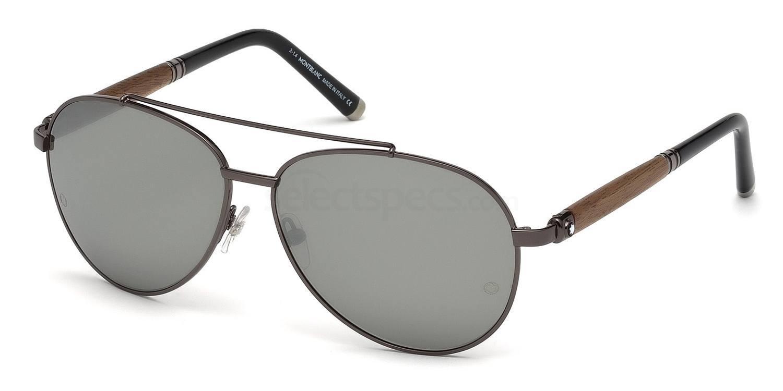 08C MB518S Sunglasses, Mont Blanc