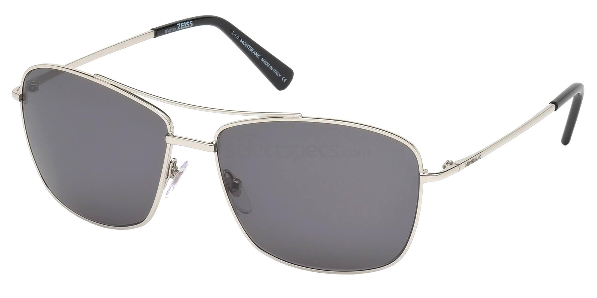 16A MB548S Sunglasses, Mont Blanc