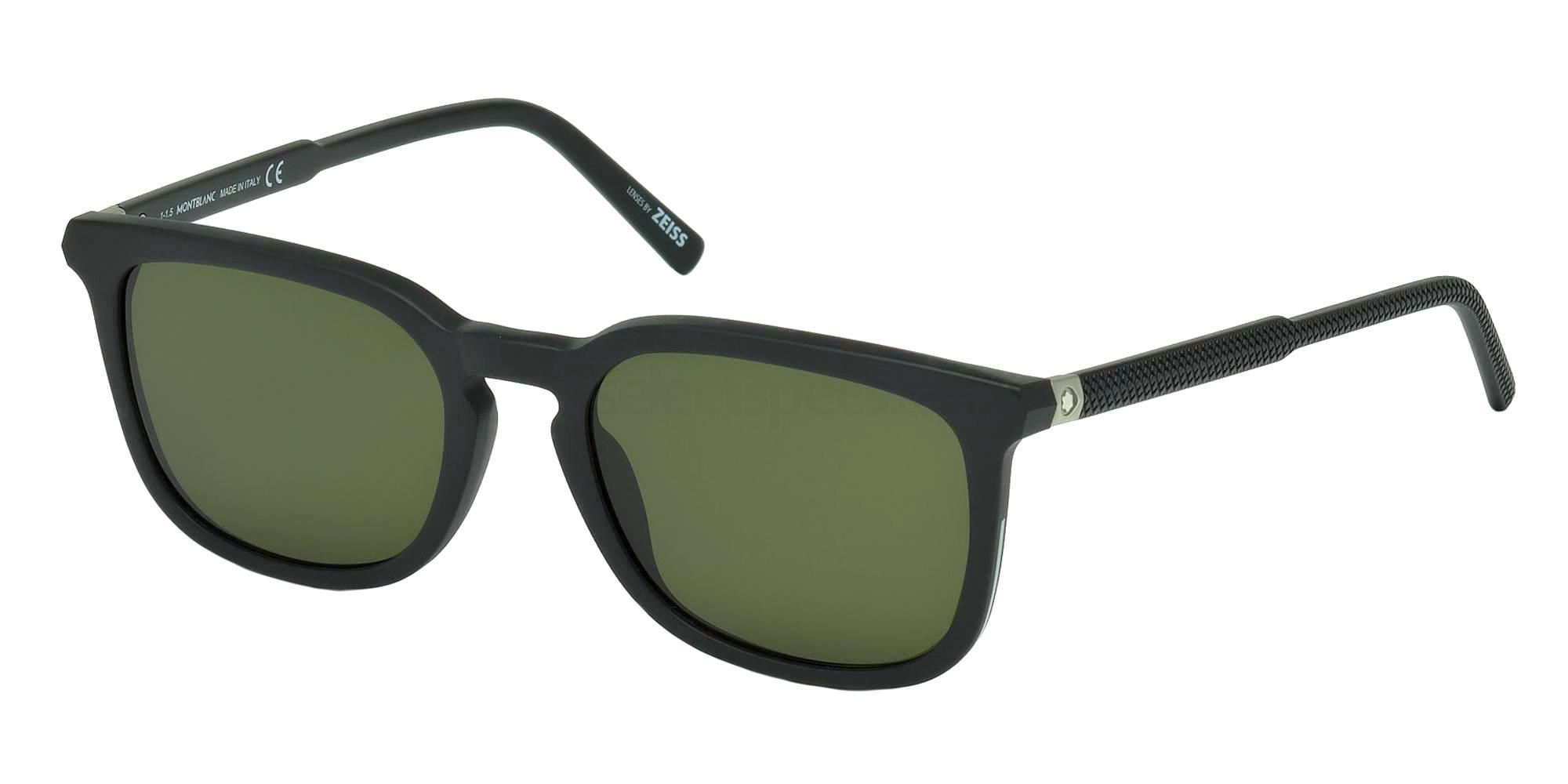 02N MB586S Sunglasses, Mont Blanc