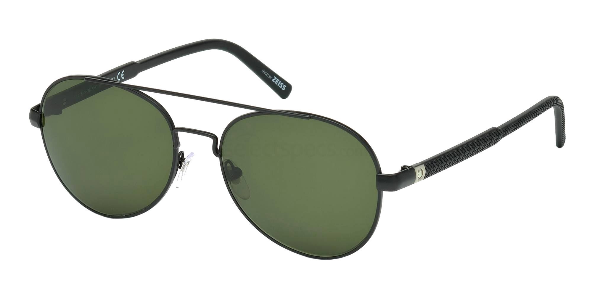 02A MB587S Sunglasses, Mont Blanc