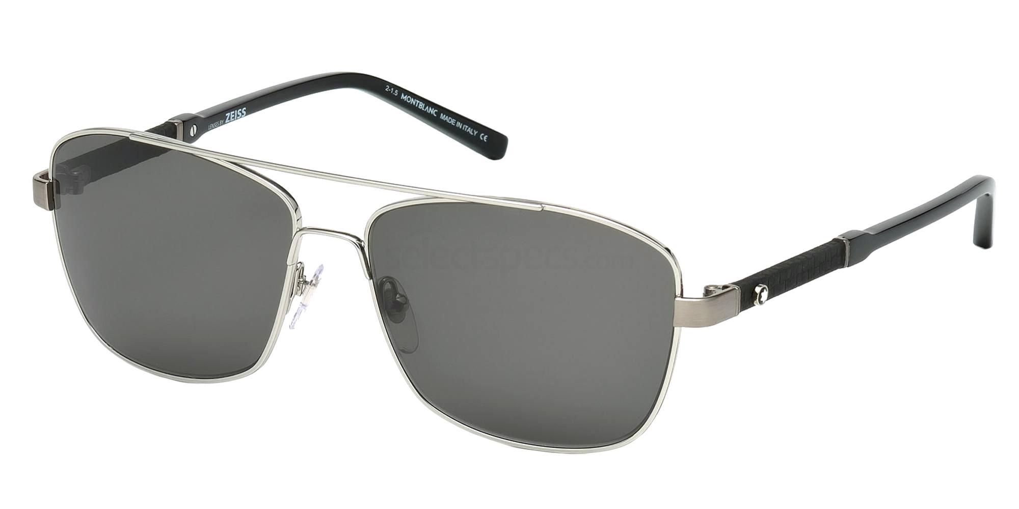 14A MB589S Sunglasses, Mont Blanc