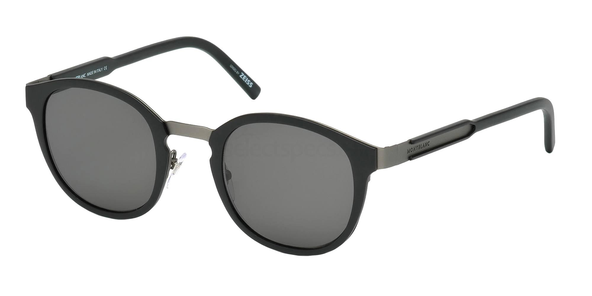02A MB590S Sunglasses, Mont Blanc