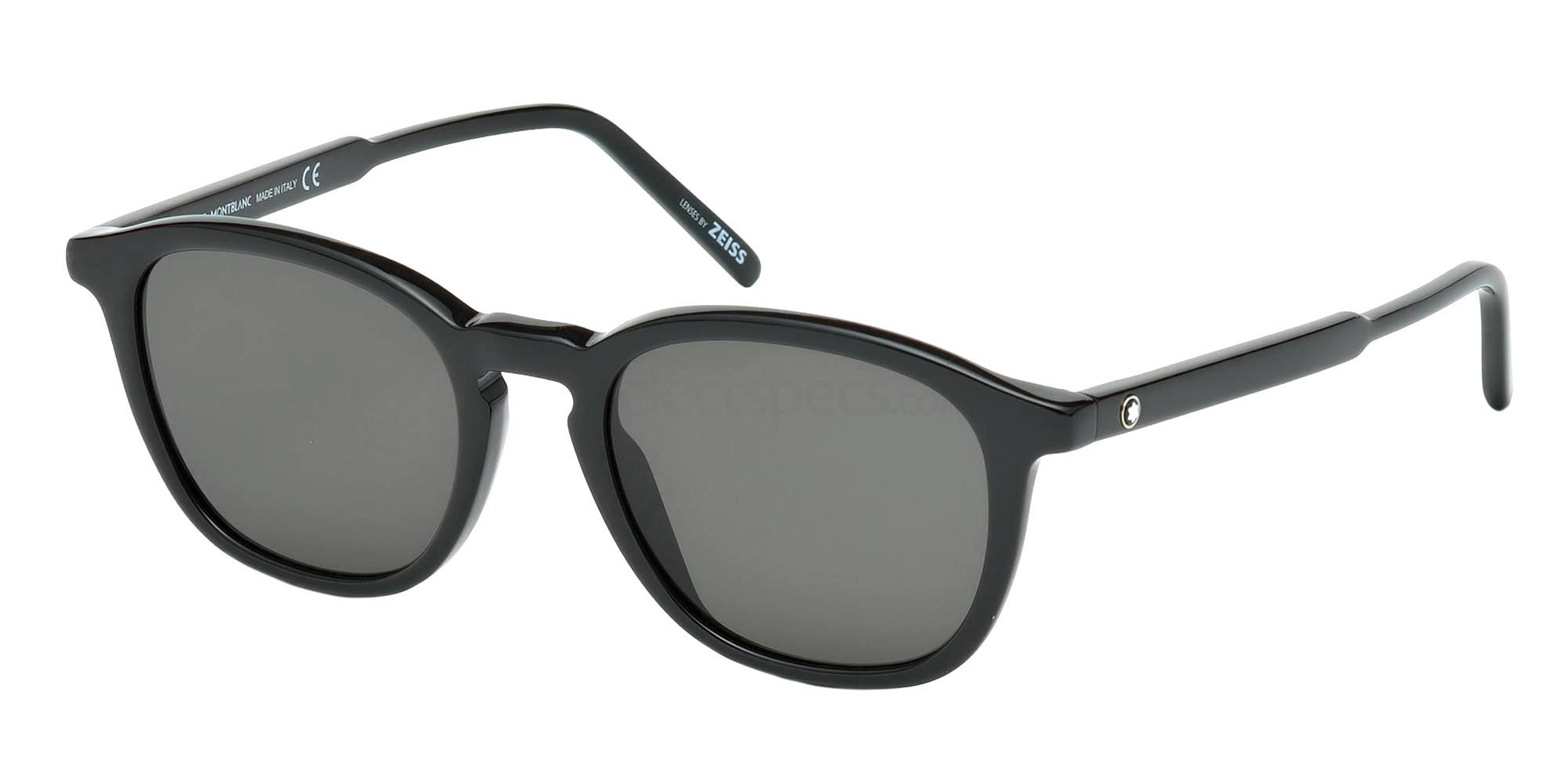 01A MB592S Sunglasses, Mont Blanc