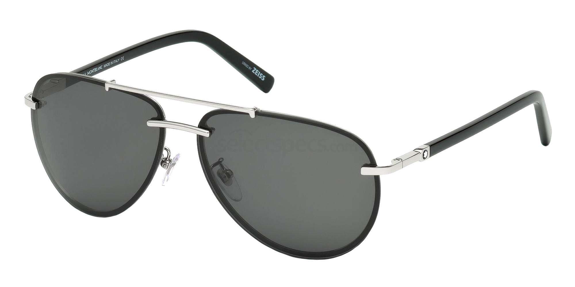 16A MB596S Sunglasses, Mont Blanc