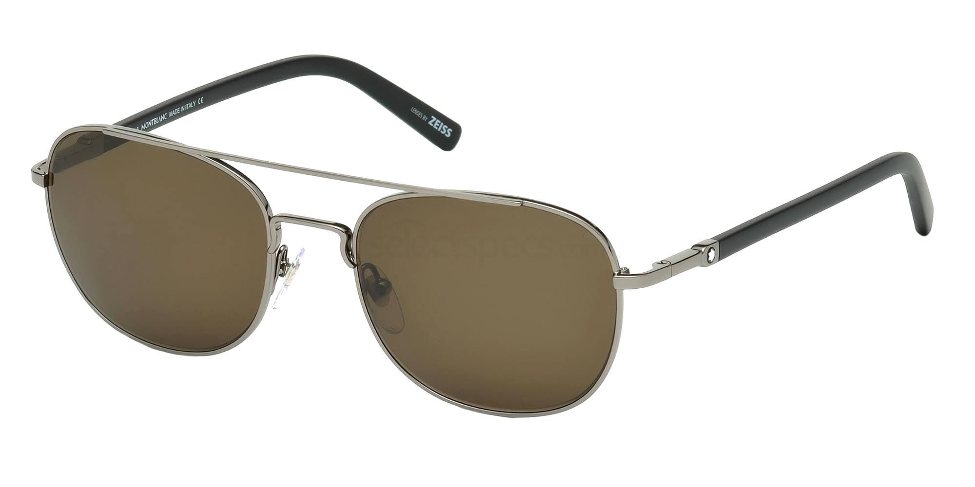 08J MB597S Sunglasses, Mont Blanc