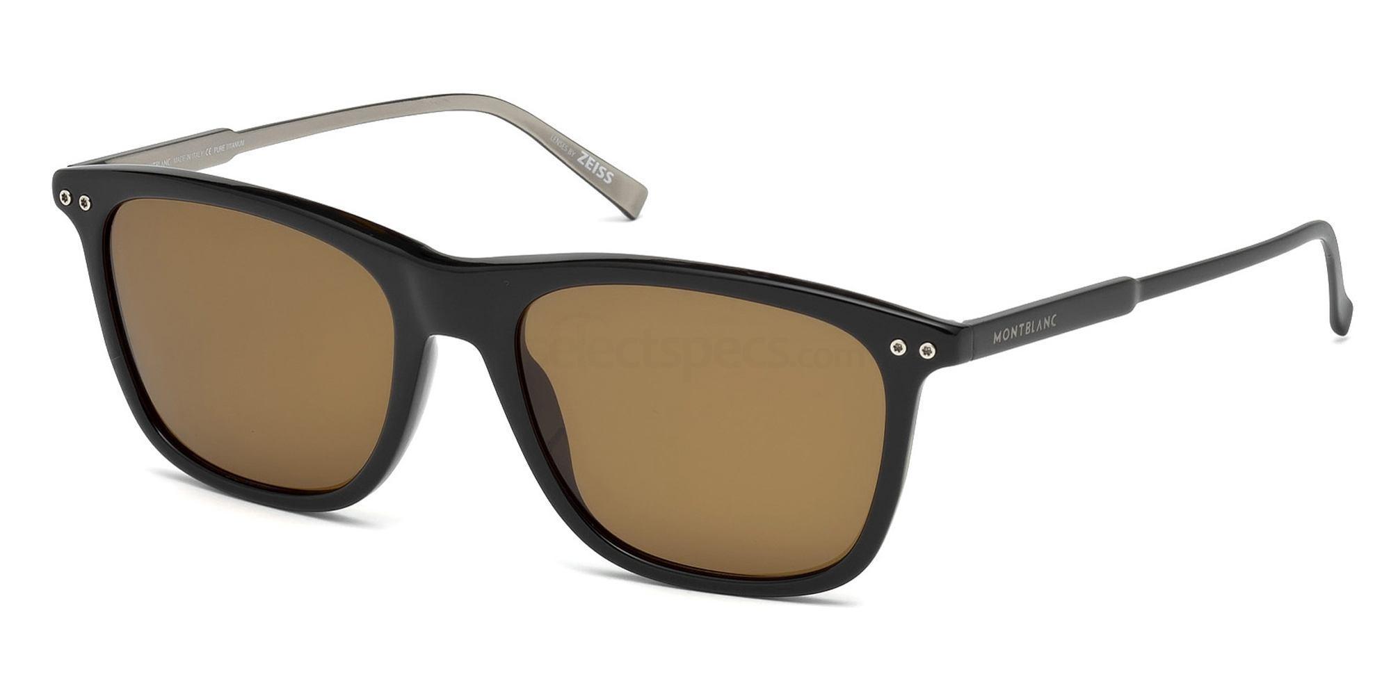 01M MB600S Sunglasses, Mont Blanc