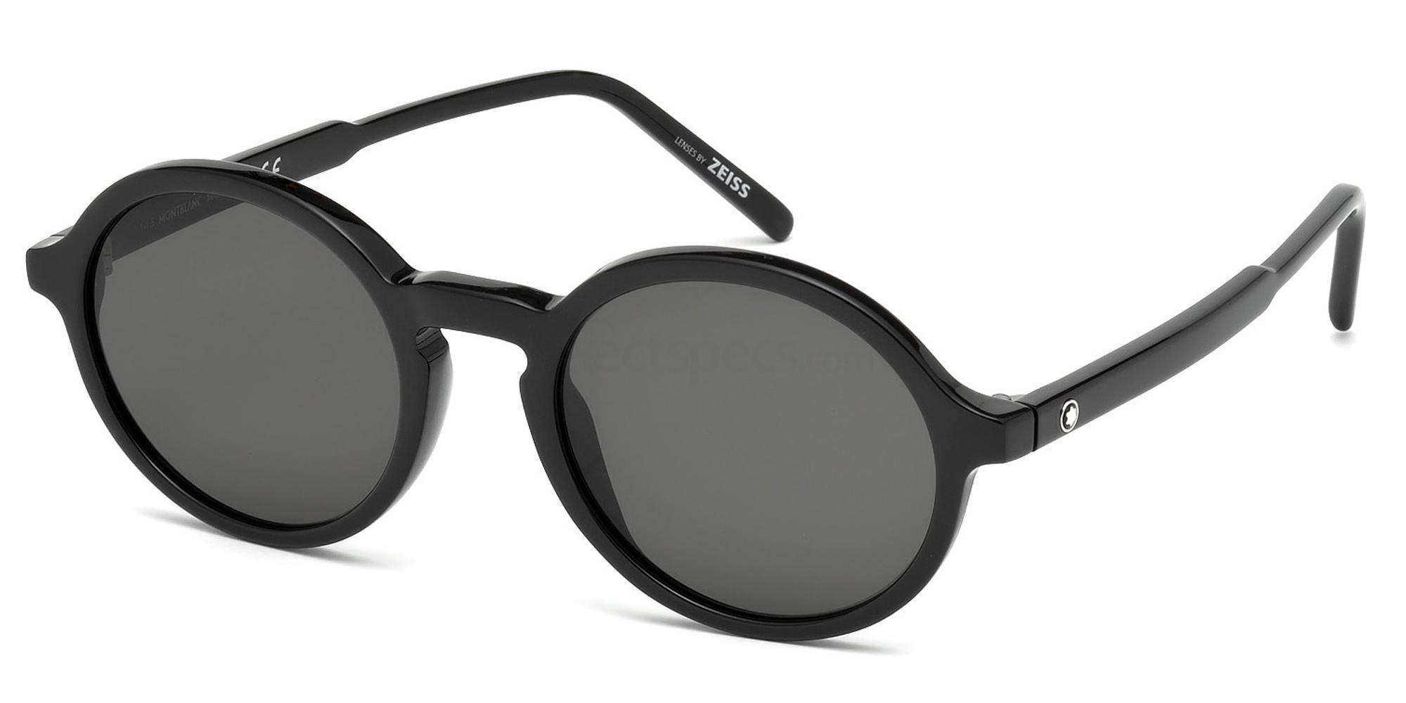 01A MB601S Sunglasses, Mont Blanc