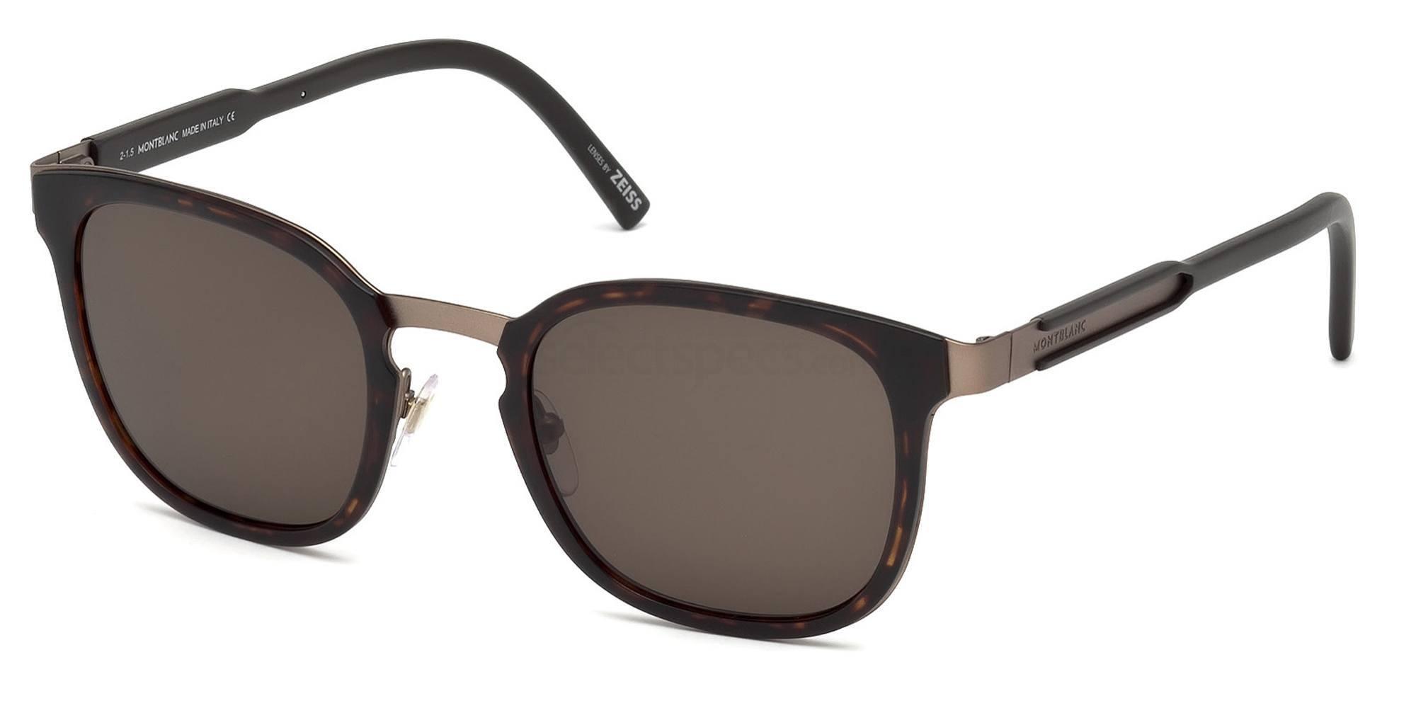 52E MB603S Sunglasses, Mont Blanc