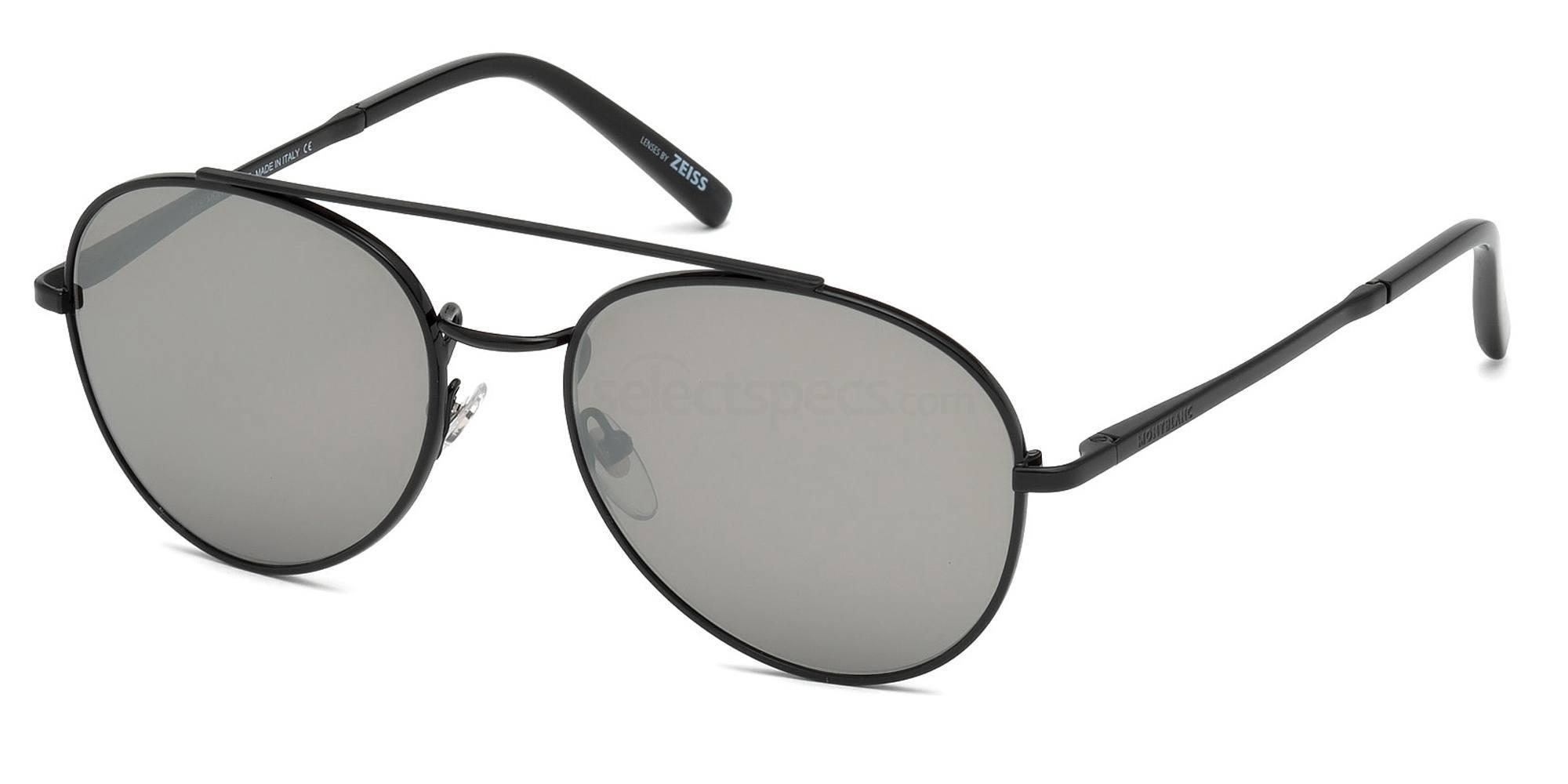 02C MB605S Sunglasses, Mont Blanc