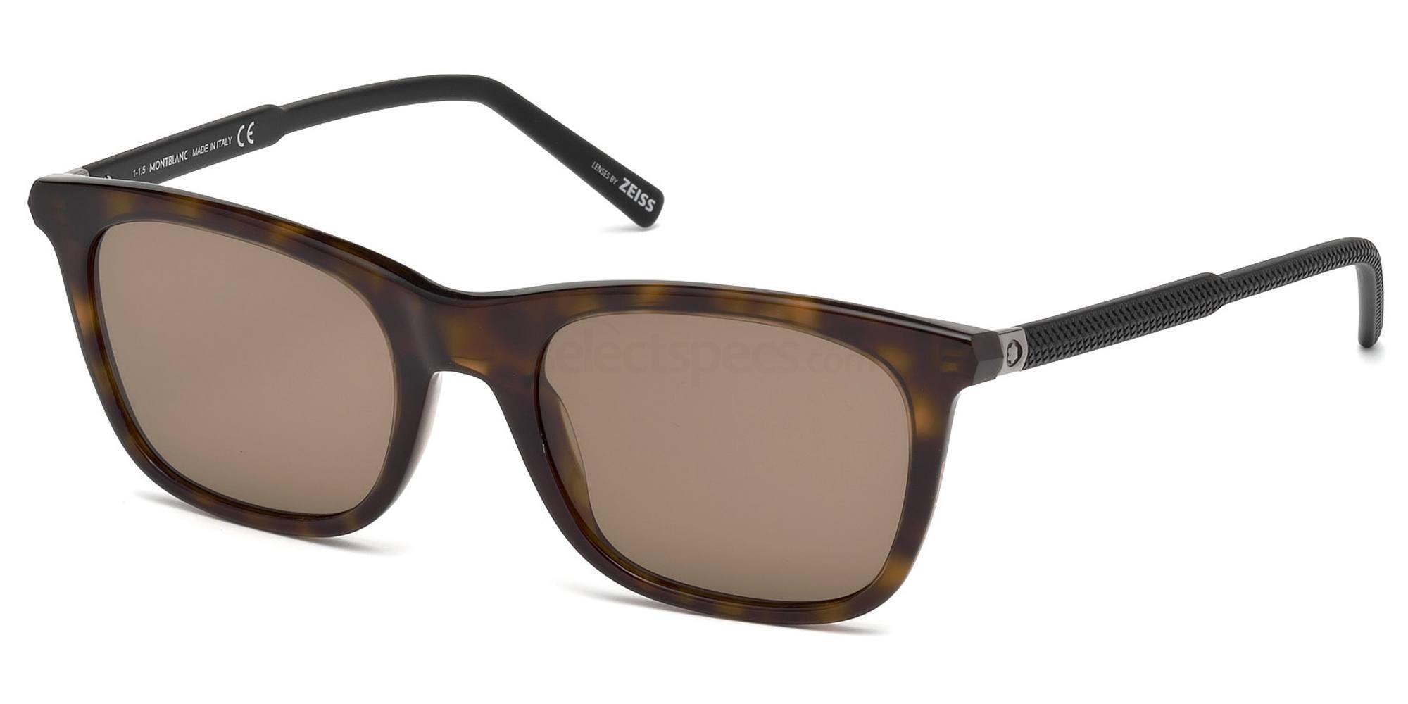 52J MB607S Sunglasses, Mont Blanc
