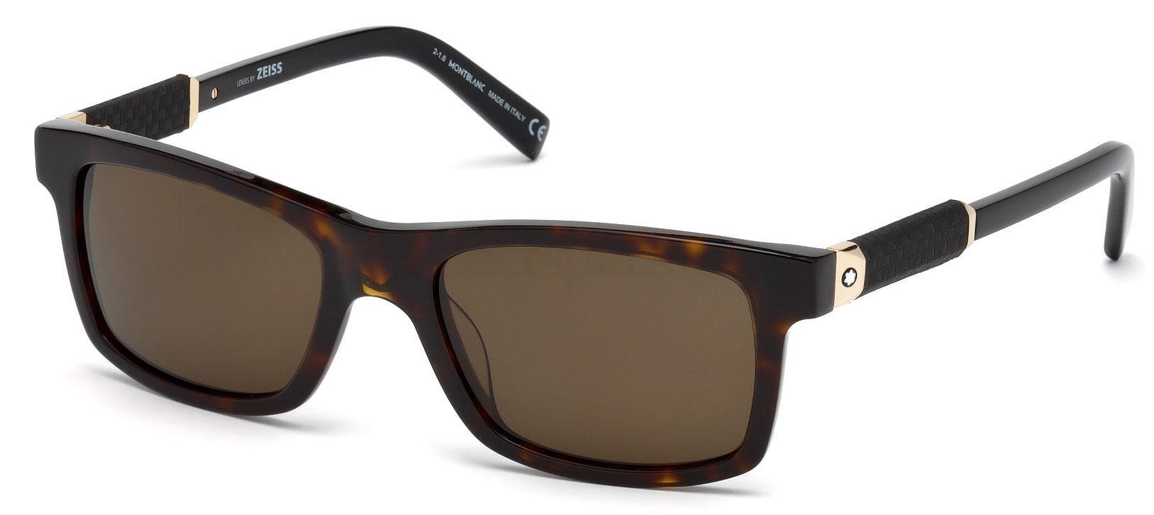 52J MB646S Sunglasses, Mont Blanc