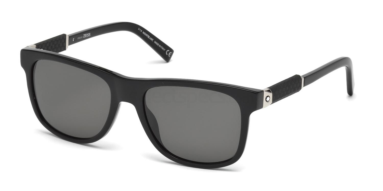 01D MB654S Sunglasses, Mont Blanc