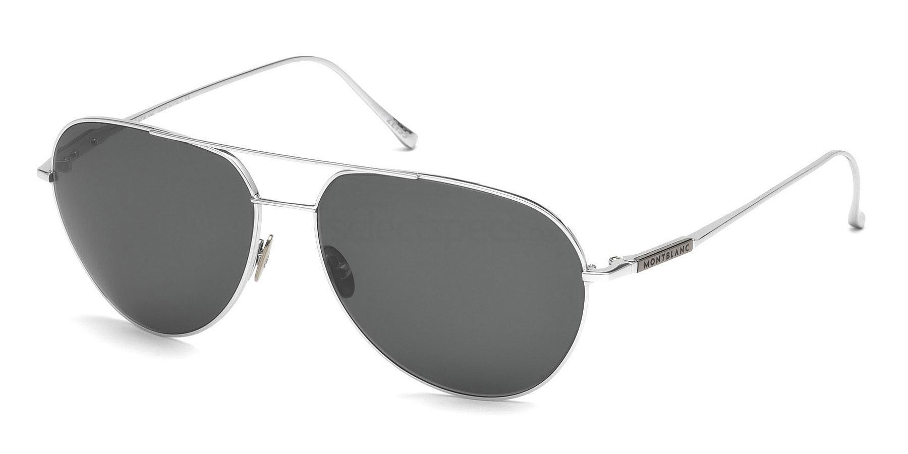 16A MB657S Sunglasses, Mont Blanc