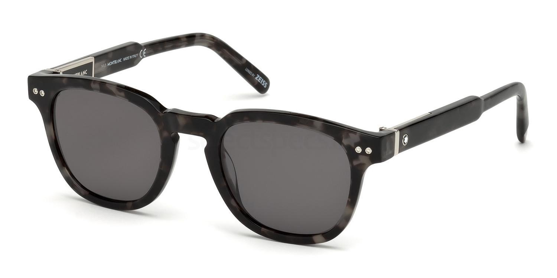 55D MB693S Sunglasses, Mont Blanc