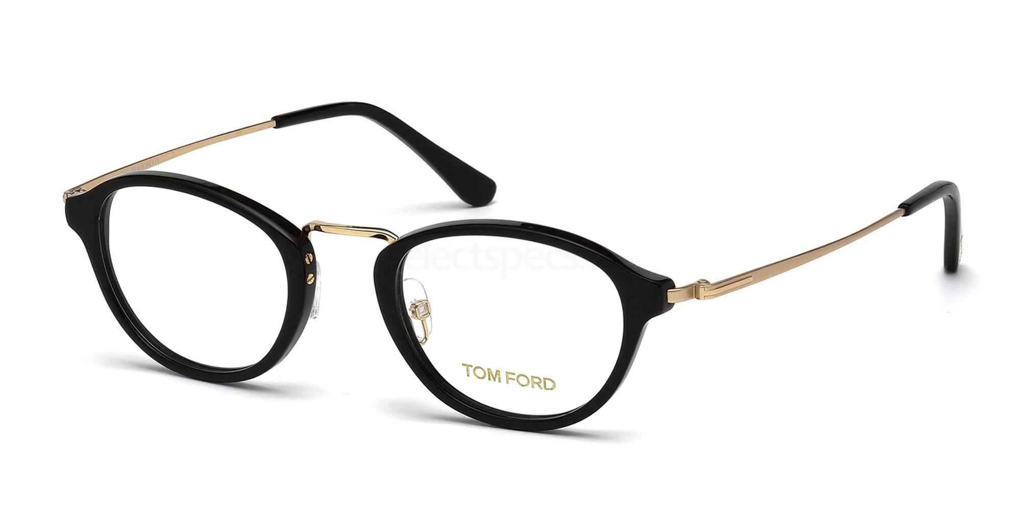 Tom Ford Black & Gold Glasses at SelectSpecs
