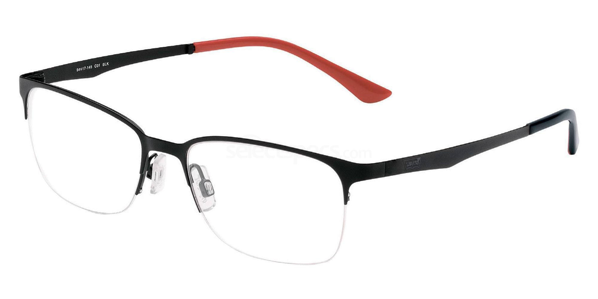 01 BLK LS104 Glasses, Levi's Eyewear