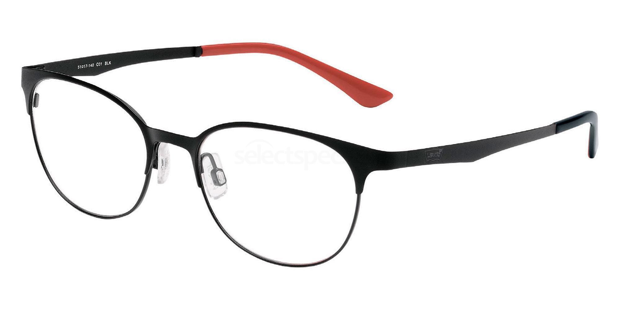 01 BLK LS105 Glasses, Levi's Eyewear