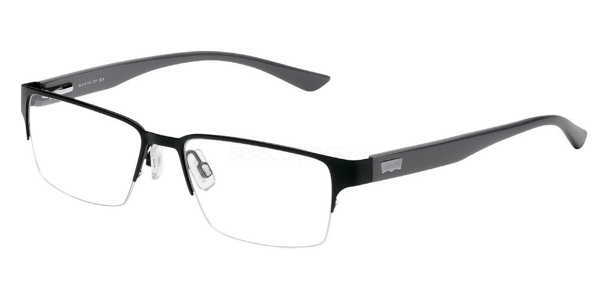 01 BLK LS106 Glasses, Levi's Eyewear