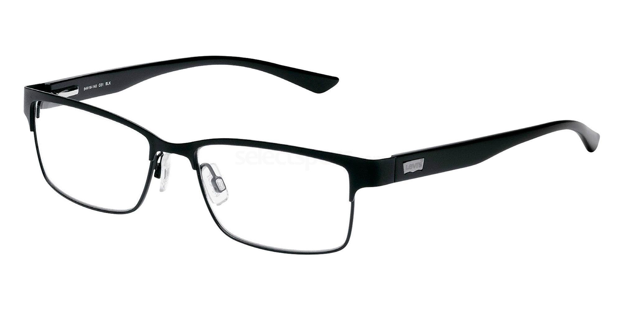 01 BLK LS107 Glasses, Levi's Eyewear