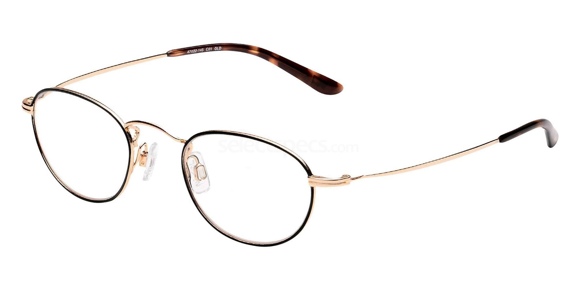 01 GLD LS110 Glasses, Levi's Eyewear