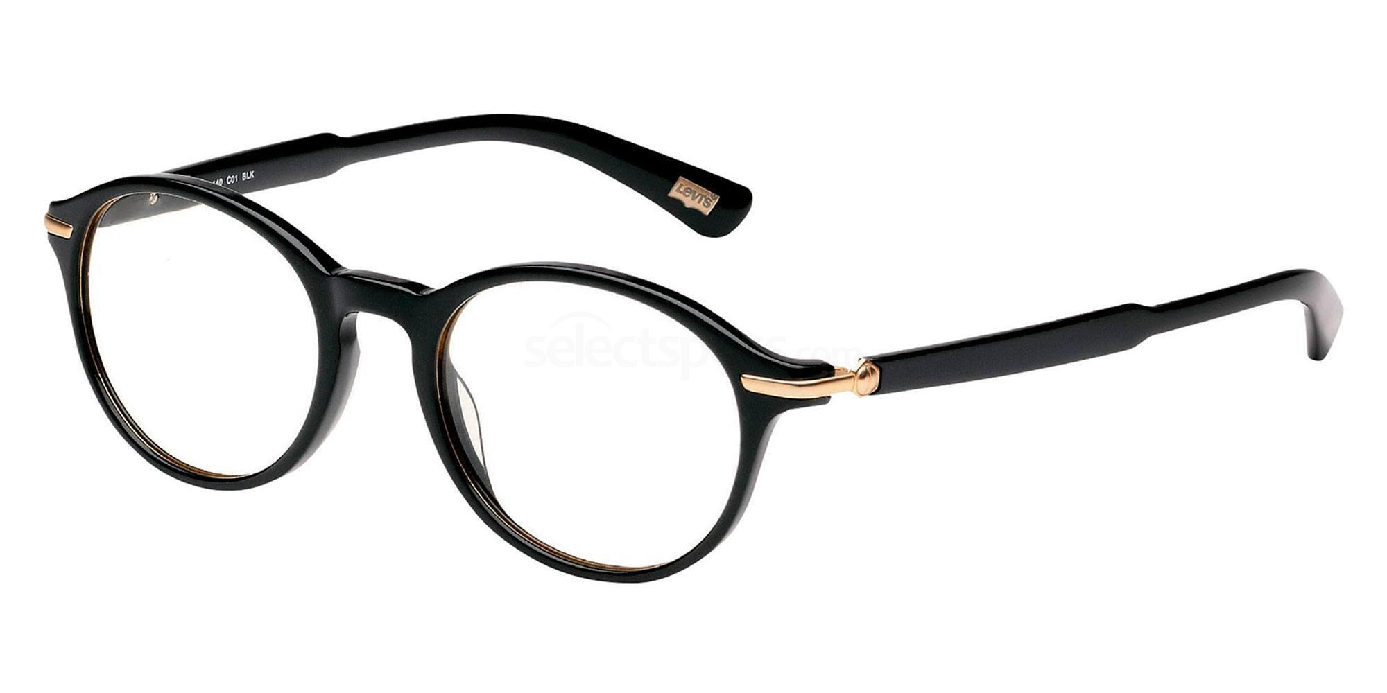 01 BLK LS114 Glasses, Levi's Eyewear