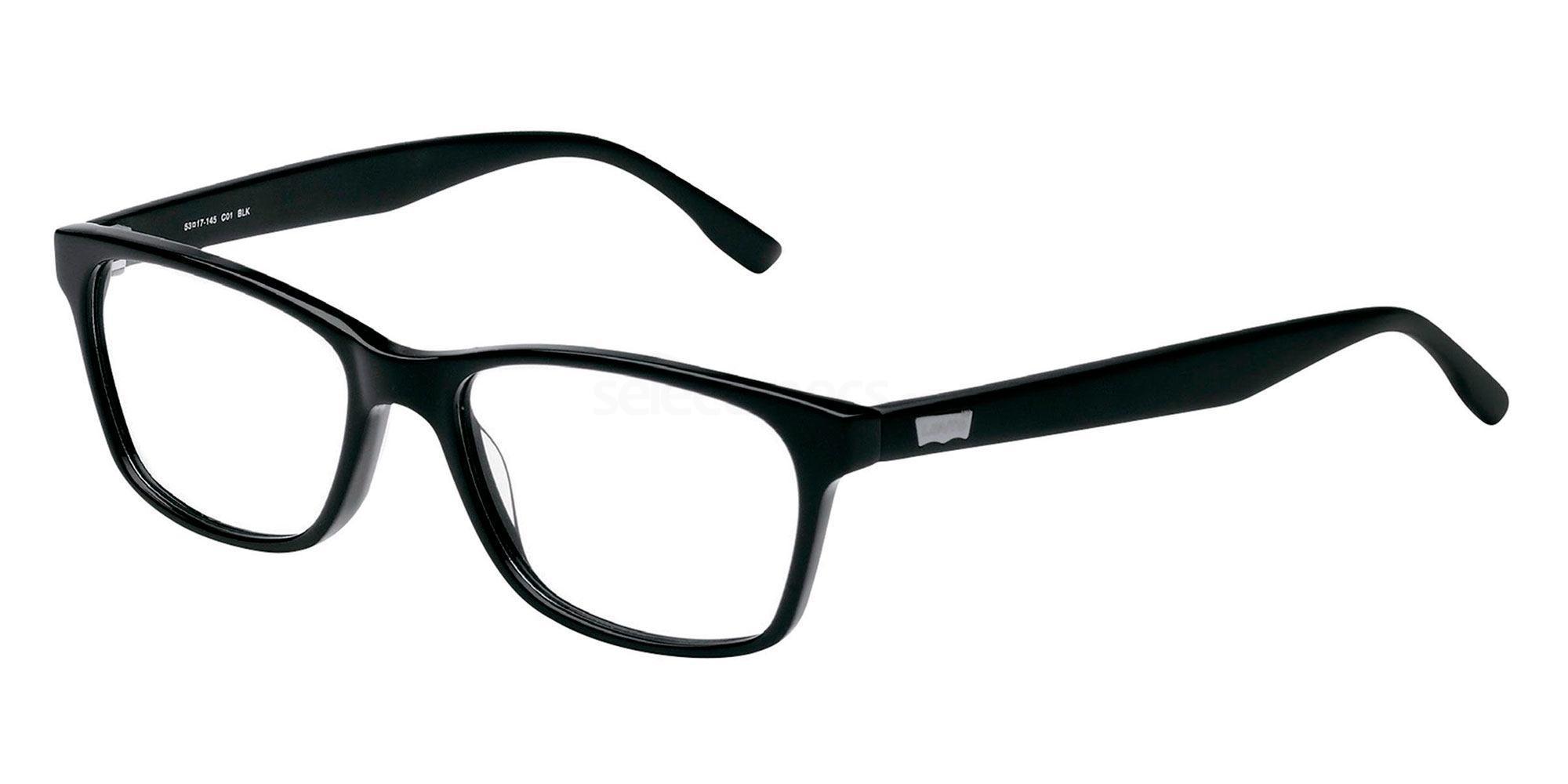 01 BLK LS116 Glasses, Levi's Eyewear