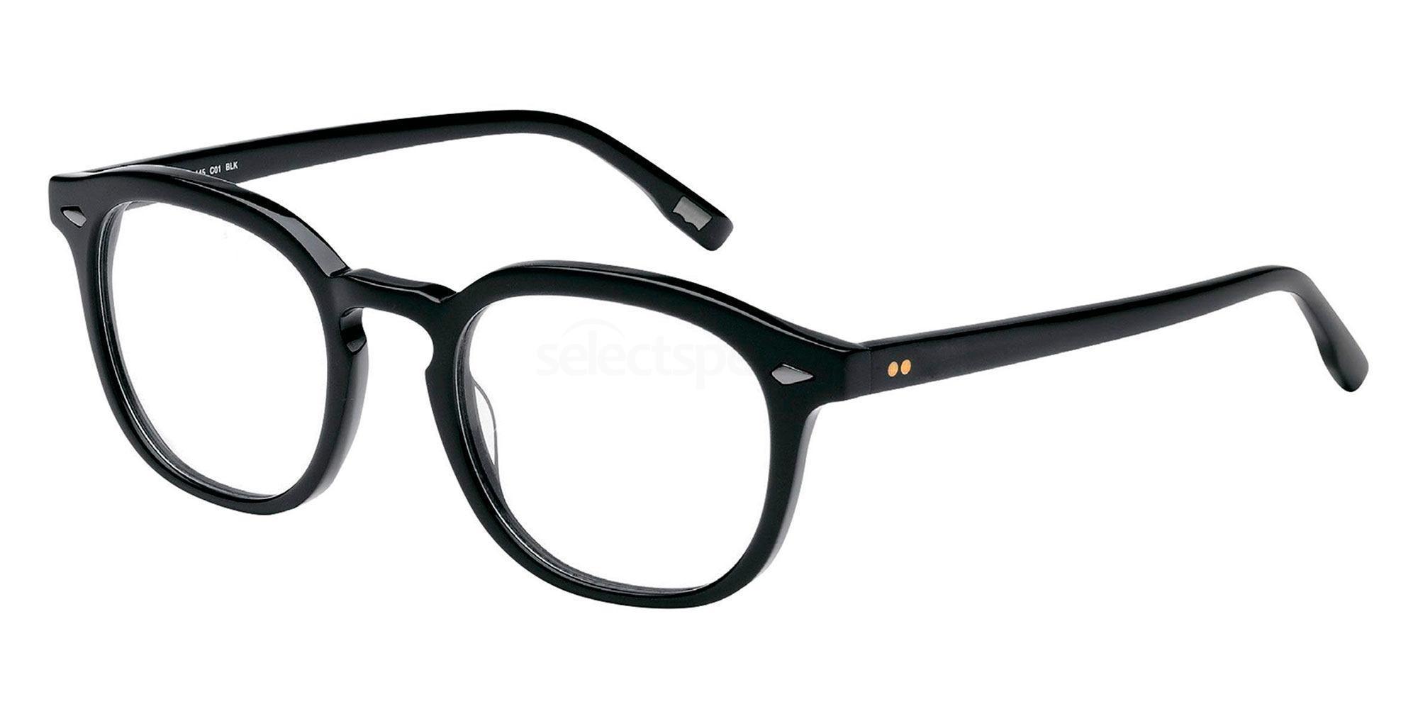 01 BLK LS118 Glasses, Levi's Eyewear