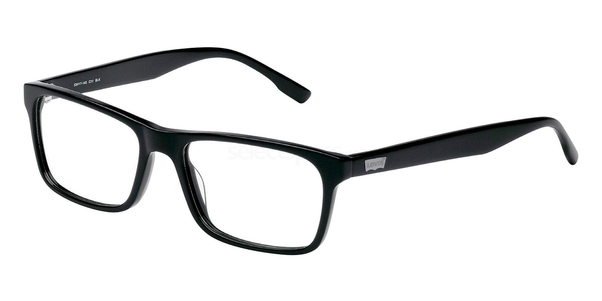 01 BLK LS119 Glasses, Levi's Eyewear