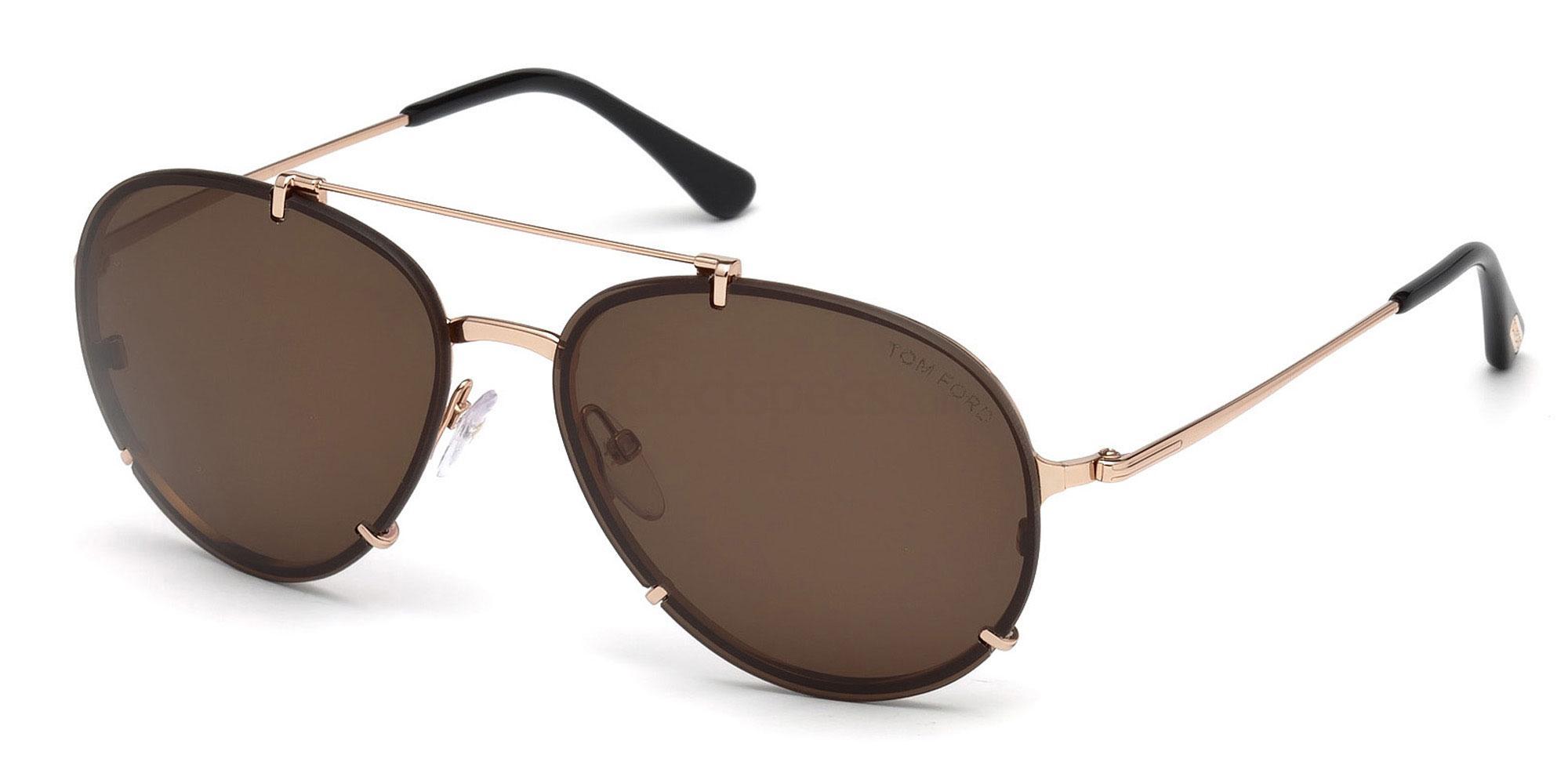 28F FT0527 Sunglasses, Tom Ford