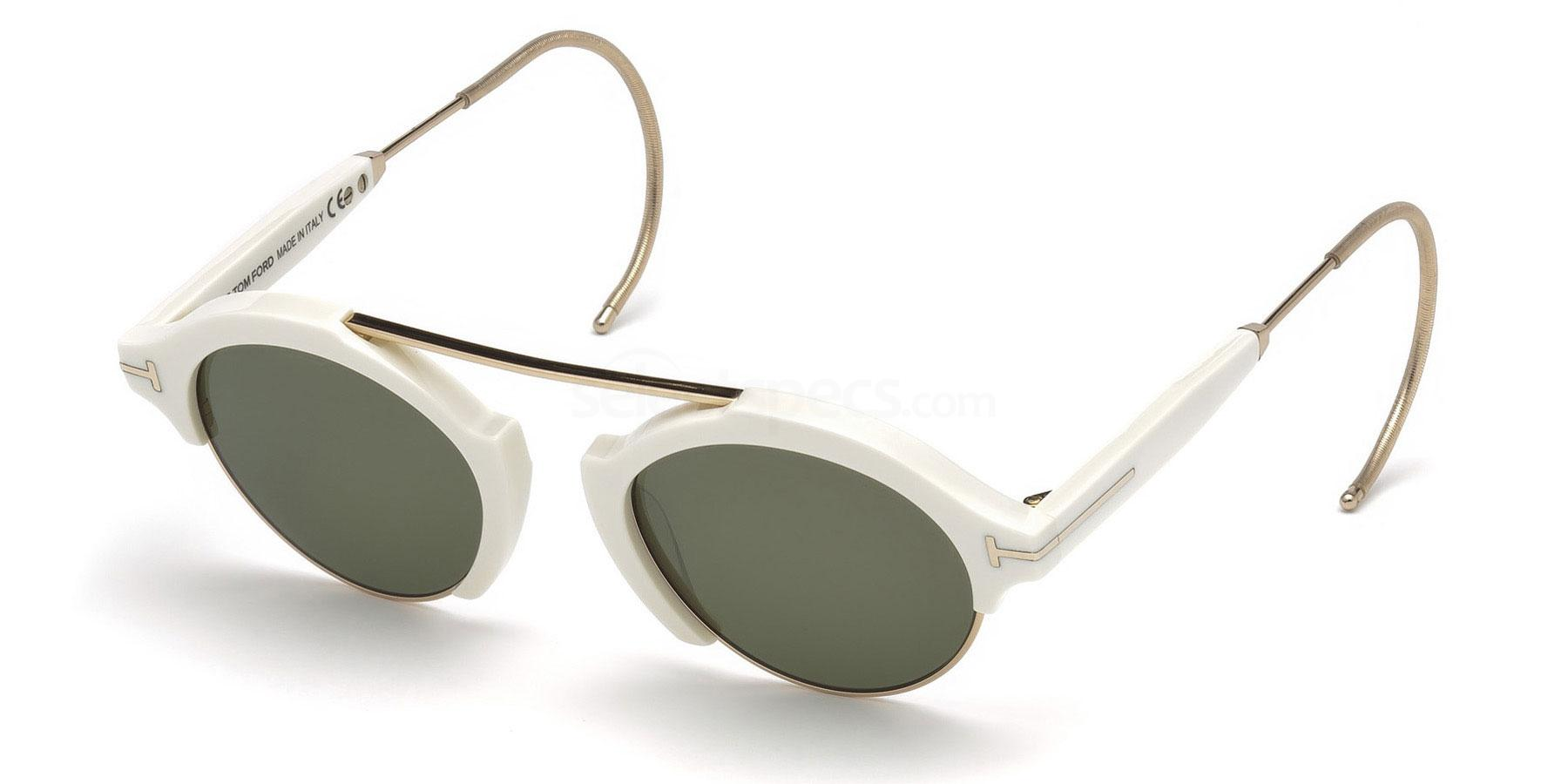 Tom Ford white small sunglasses