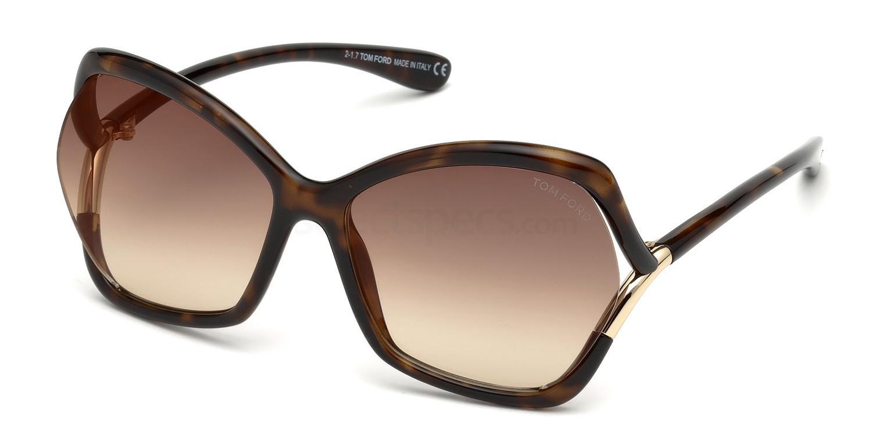 52G FT0579 Sunglasses, Tom Ford