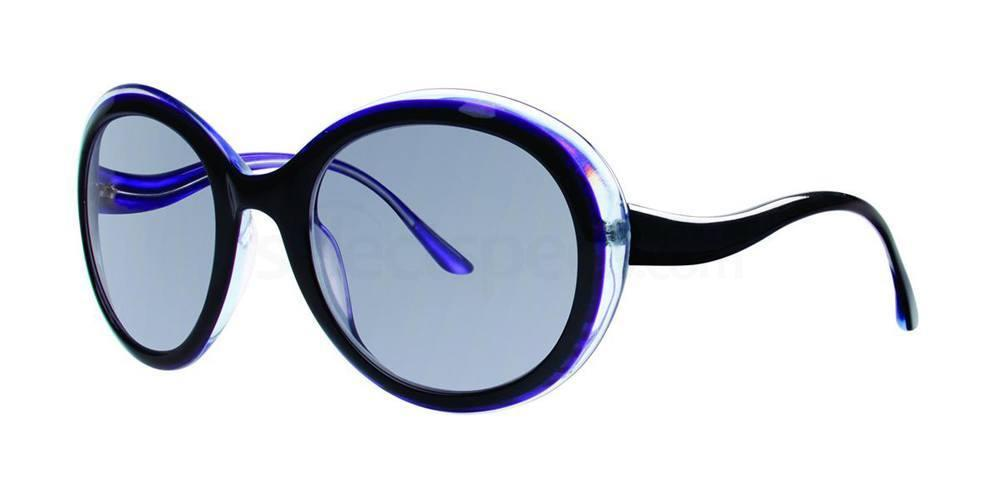 Blue Vera Wang big oval sunglasses