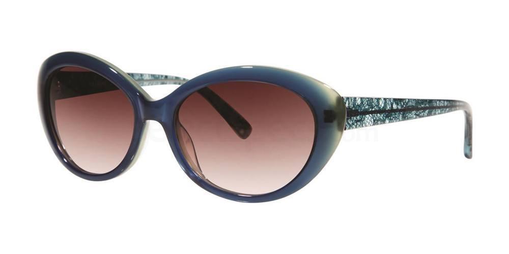 Navy V404 Sunglasses, Vera Wang