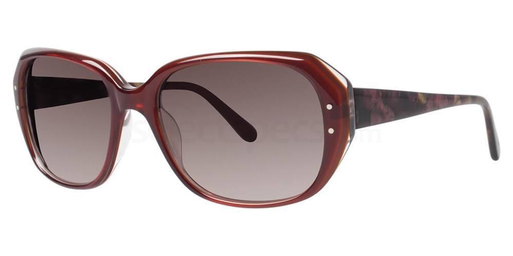 Burgundy V416 Sunglasses, Vera Wang