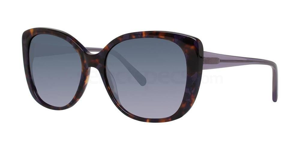 Amethyst Tortoise V452 Sunglasses, Vera Wang