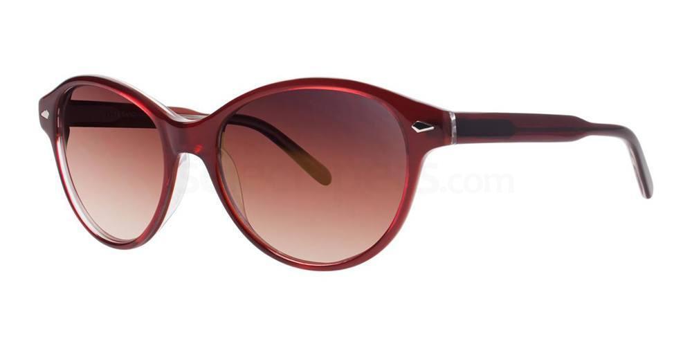 Burgundy Tortoise ILITA Sunglasses, Vera Wang