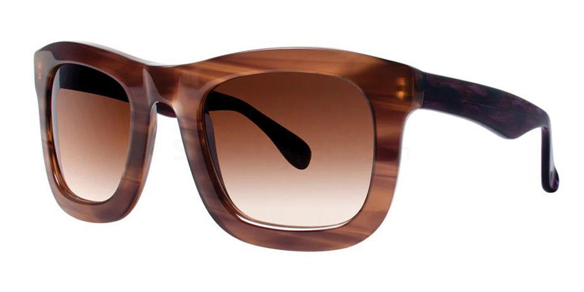Chocolate CRYSANTHE Sunglasses, Vera Wang