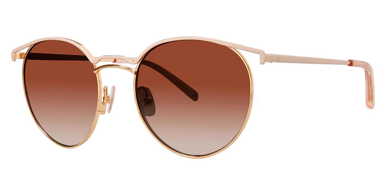 Rose Gold V478 Sunglasses, Vera Wang