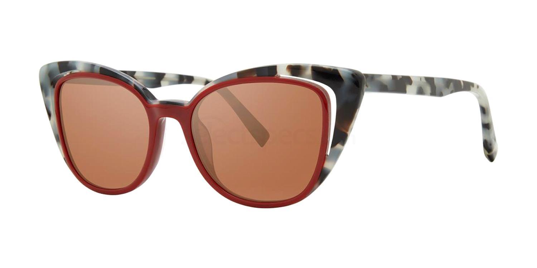 Cranberry Tortoise V493 Sunglasses, Vera Wang