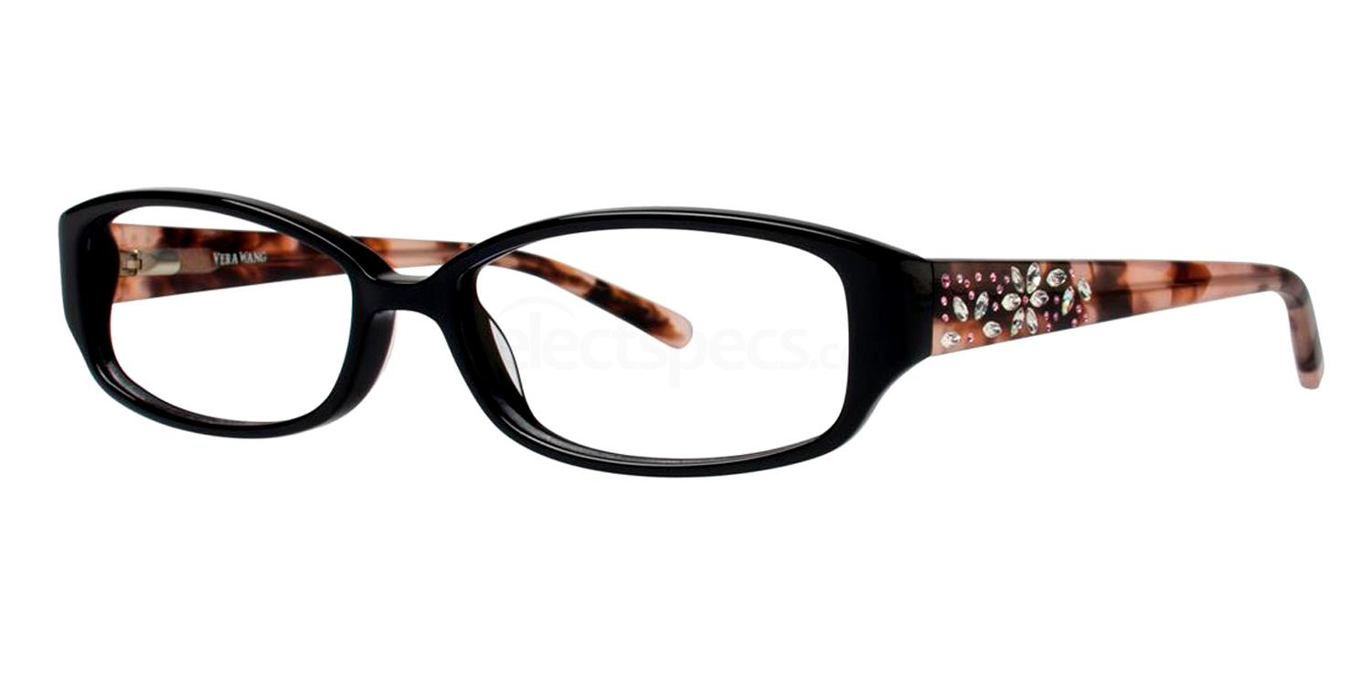 Black EVADNE Glasses, Vera Wang Luxe