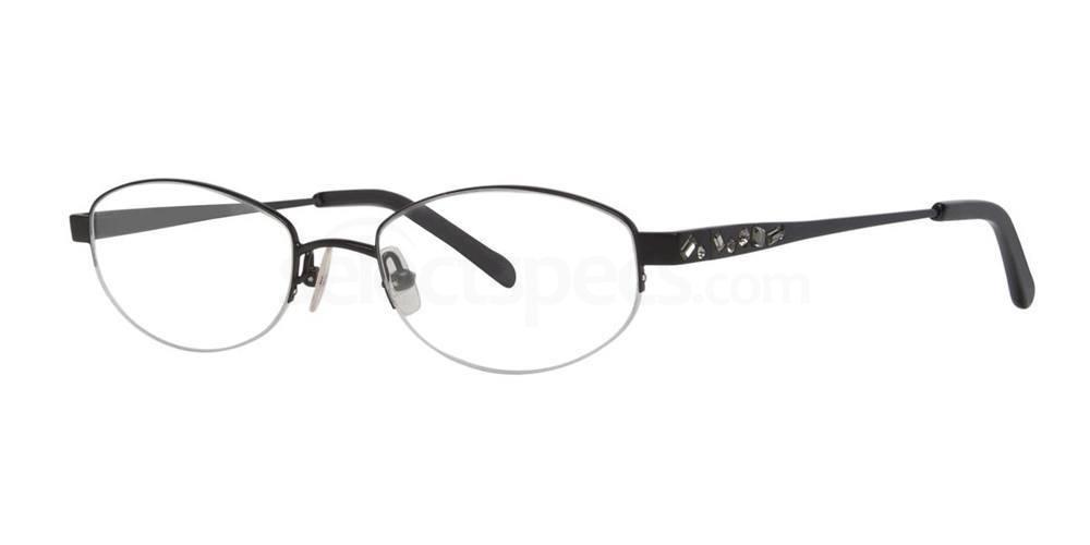 Black Satin GLITTER Glasses, Vera Wang Luxe