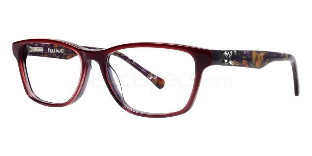 Burgundy ZIPPORAH Glasses, Vera Wang Luxe